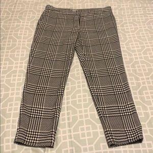 H&M Black and White Plaid Dress Pants Slack